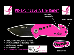 "MADI Pink Pocket Knife ""Save A Life Knife"" (95-PK1P)"