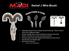 MADI Swivel J Wire Brush (95-SJWB1)