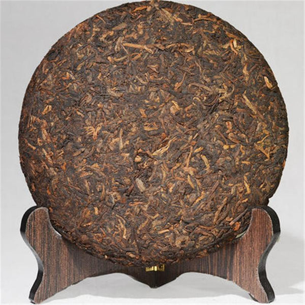 357g Great Original Pu-erh Tea Cooked Tea Cake Ripe Tea Shu Pu'er Tea HelloYoung