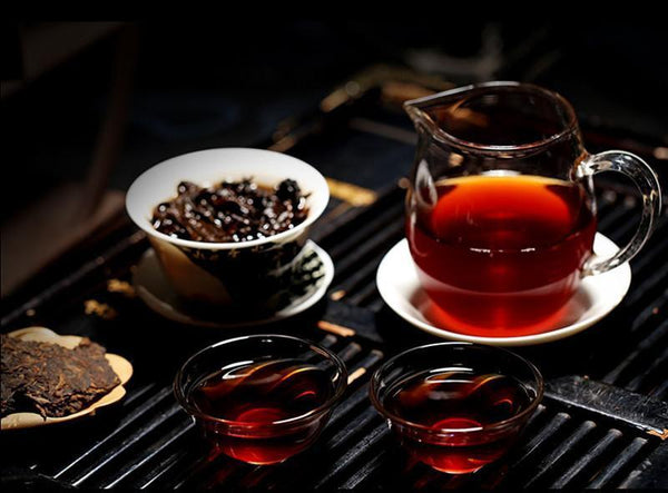 Yunnan 357g Pu-erh Tea Puerh Ripe Tea Wishful Tea-cake Top Class Cooked Shu HelloYoung Tea