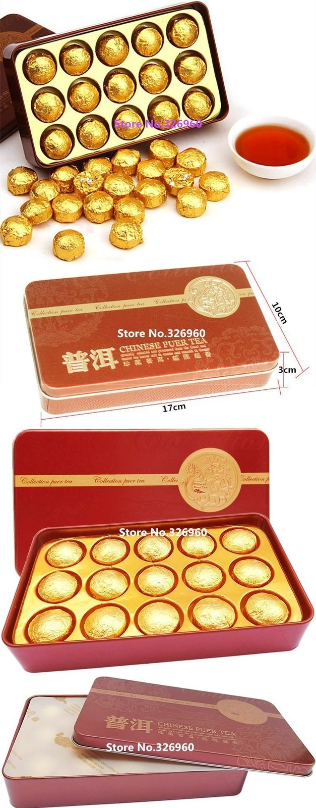 Hot Sale 185g Black Tea 15 Pcs Gift Packing Cooked Pu Er Tea Pu-erh Tea Tin Box