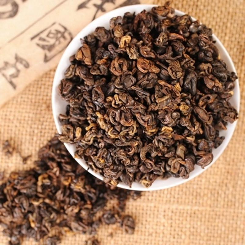 500g Red Biluo Black Tea In Bulk Yunnan Fengqing Dianhong Cooked Tea Fresh Tea 茶