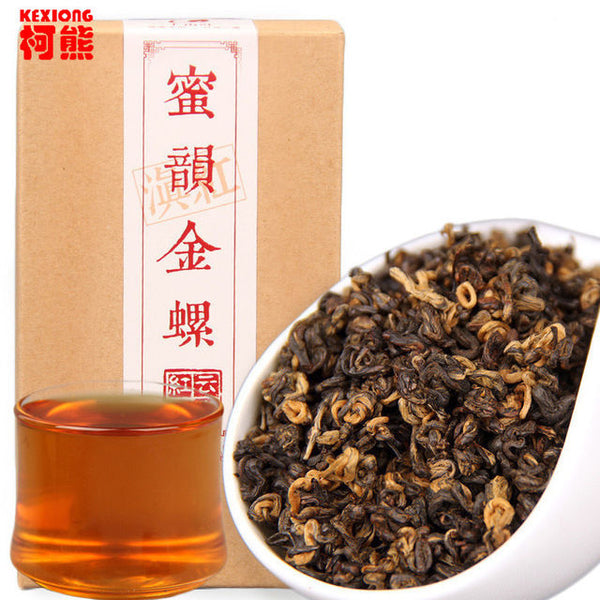 200g Kunming crested early spring honey rhyme gold screw black red Dianhong food