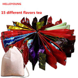 15 Kinds of Chinese famous Tea Milk Oolong Tea Tieguanyin Dahongpao Black Tea Green Tea