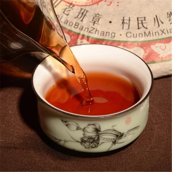 357g Old Class Pu-erh Cooked Tea Cake Yunnan Tea Original Flavor Black Puer Tea