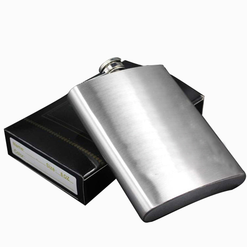 7oz Hip Flask Set Stainless Steel Hip Flask With Funnel Drinking Cup Portable Hip Flask for Whiskey Liquor Wine KC1013-2