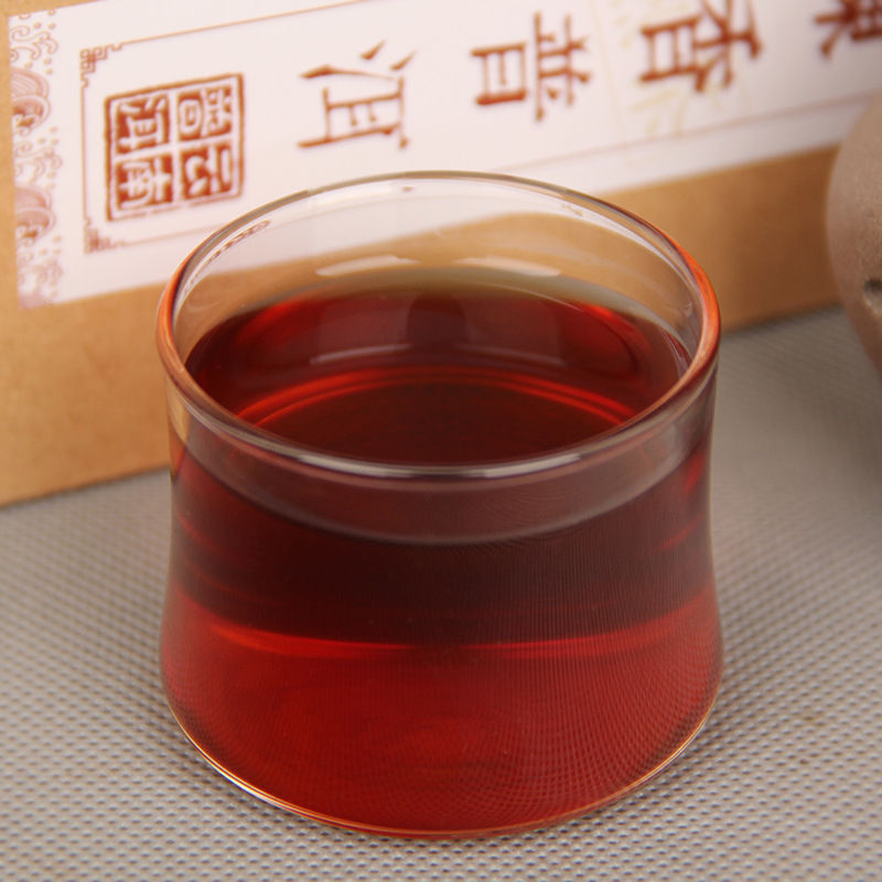 China Puer tea boxed 120g ripe pu-erh loose Black tea old tree organic health