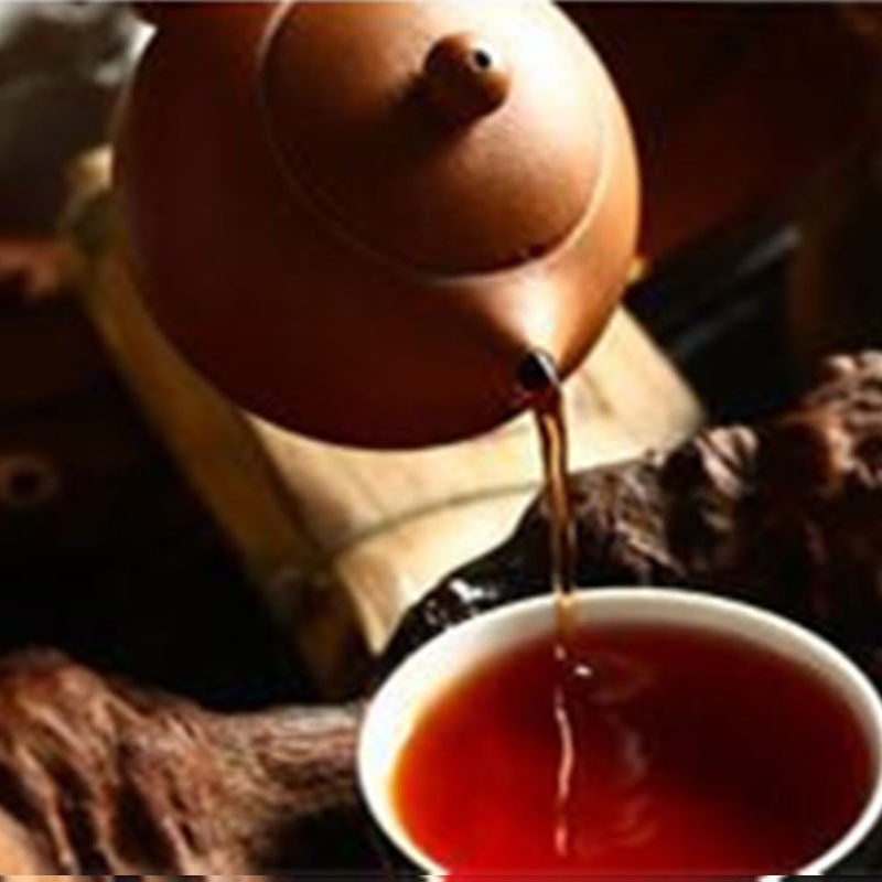 chinese cooked pu-erh tea 357g healthy black tea green food Meng Yi Xing Hai