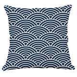 Army Blue Geometry Cushion Cover Home Car decorative throw pillows New Arrival Funda Cojines wave coussin custom Almofada