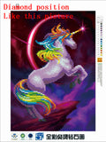 DIY 5D Partial Diamond Embroidery Dream Beast Diamond Painting Cross Stitch Kits Diamond Mosaic Home Decoration
