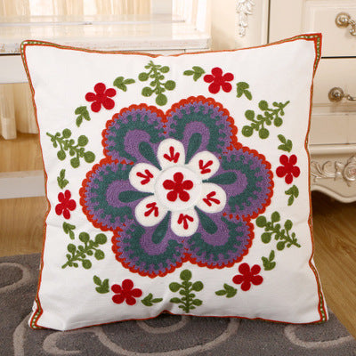 BZ132 Luxury Cushion Cover Pillow Case Home Textiles supplies Lumbar Pillow Folk-custom embroidery pillows chair seat