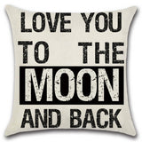 BZ145 Luxury English Letter Cushion Cover Pillow Case Home Textiles supplies decorative throw pillows chair seat