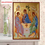 DIY Full 5D Diamond Embroidery The gods Round Diamond Painting Cross Stitch Kits Diamond Mosaic home  Decoration