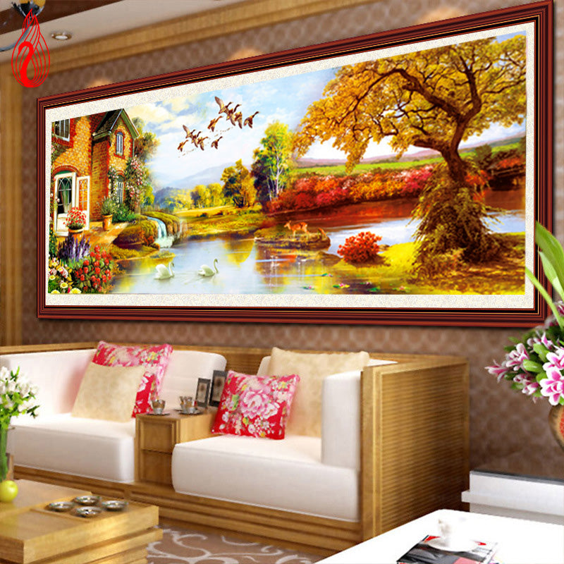 DIY 5D Full Diamond Embroidery Rich Tree Round Diamond Painting Cross Stitch Kits Diamond Mosaic Home Decoration
