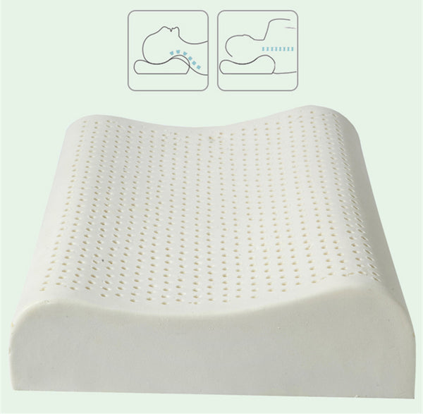 60x40cm Natural Latex Pillow Sleeping Bedding Cervical Massage Pillow Health Neck Bonded Head Care Memory Pillow U1170