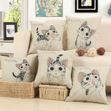 BZ260 Cartoon small Meng cat pillow Cushion Cover Pillowcase Sofa/Car Cushion /Pillow  Home Textiles supplies