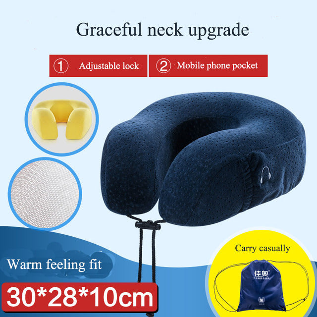 BZ906 Comfortable Neck Support Travel Pillow U Shaped New Memory Foam Pillow Protect for Your Neck