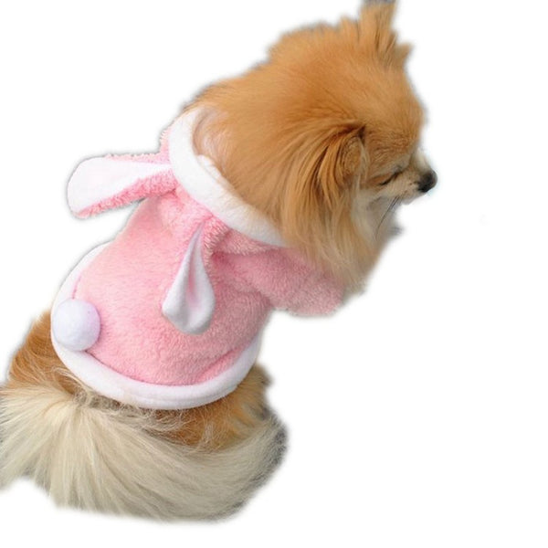 Fashion Dog Clothes Cute Rabbit Plush Winter Apparel Pet Hoodie Costume Clothes Dog Coat Pet Products Small Dogs Spring Autumn