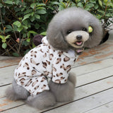 Fleece Dog Hoodies women Autumn winter Wear Pet jumpsuit warm Pet dog Clothes Clothing for Dogs Small dog Four Leg Hoodie