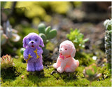 XBJ163 Mini 5pcs Curly dog decoration supplies moss micro landscape deco  Garden deco Creative handicrafts