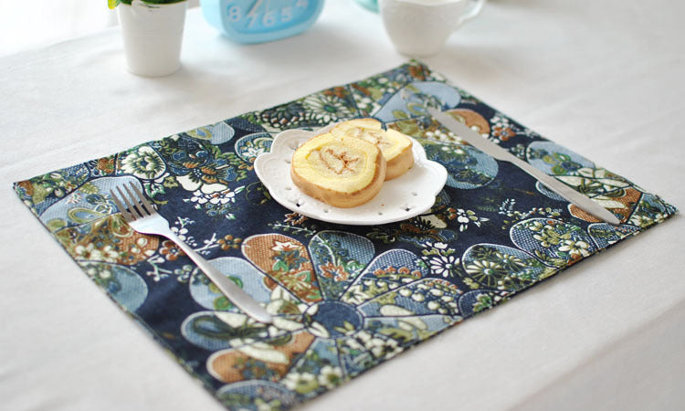 BZ806 Table mats Tableware mats Pads professional custom hotel cloth art meal pad Japanese style sushi pad tea table mat