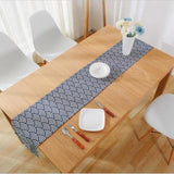 HELLOYOUNG Japan Style Fan Pattern Cotton Linen Table Runner Geometric Tablecloths Home Restaurant Banquet Party Decor 3 Size