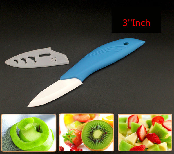 "Brand New Patent Dolphin handle fruit knife 3"" 4"" 5"" 6"" inch+peeler Chef Kitchen Ceramic Knife"