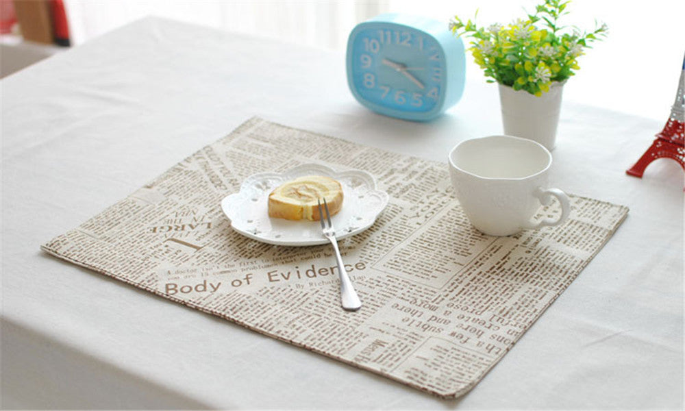 BZ818 Table mats Tableware mats Pads Modern Kitchen pots alphabet mat placemat Western cuisine table mat