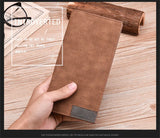 Matte leather wallet tra-thin youth High quality leather PU clutch Multi-functional soft leather money folder