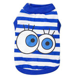 Summer Pet Clothes Dog Shirt Pet Cat Clothing Big Eyes Dog Costumes Puppy Cotton Vest Spring T-Shirts For Small Dogs Costumes