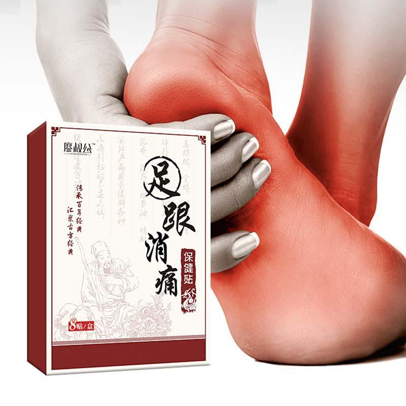 8pcs/bag Heel Pain Plaster Pain Relief Patch Herbal bone spurs achilles tendonitis Patch Foot Care Treatment Patches