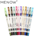 Menow Brand 12 Colors/Set Eyeliner Lip Pencil Waterproof Eyes Makeup cosmetic 3-in-one eye makeup 1414
