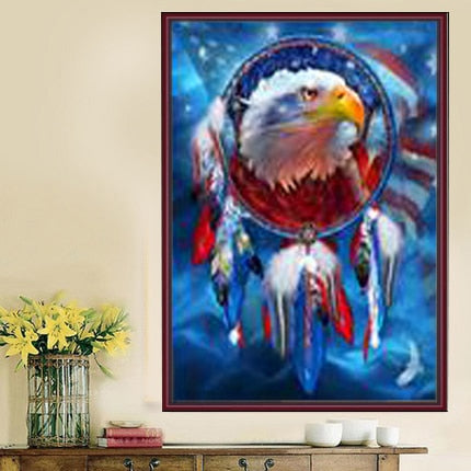 DIY Partial 5D Diamond Embroidery The eagle Round Diamond Painting Cross Stitch Kits Diamond Mosaic Home Decoration