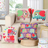 BZ226 Love elephant pillow Cushion Cover Pillowcase Sofa/Car Cushion /Pillow  Home Textiles supplies