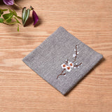 Elegant Embroidered Table Runner Floral Embroidery Linen Table Runners for Tea Table Home Party Wedding Table Decoration 1piece