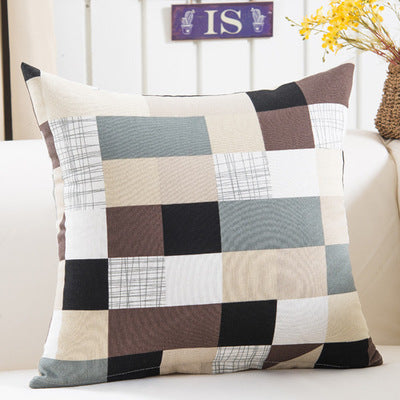 BZ115 Luxury Cushion Cover Pillow Case Home Textiles supplies Lumbar Pillow Lattice stripes decorative throw pillows chair seat