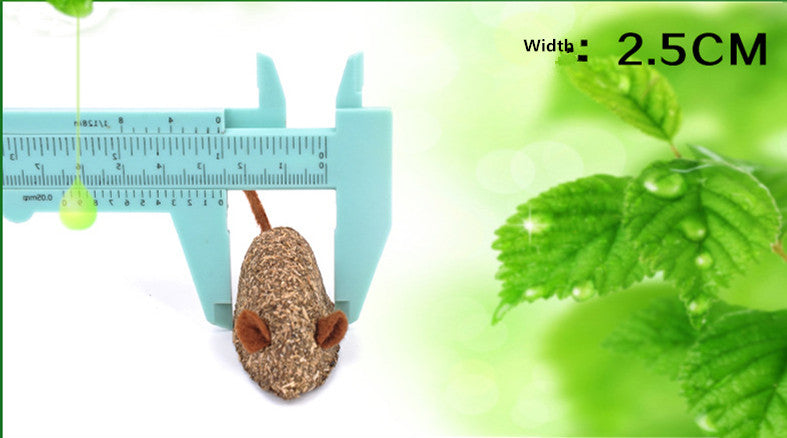 Cat Catnip toy Mice Edible Toy Mint Smell natural Cute Mouse Add Vitamins Mint ball Clean the mouth cat toys