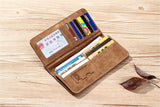 New Vintage High quality PU leather clutch male leather Wholesale long wallets card holder purse pocket wallet