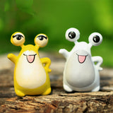 XBJ114 Mini 6pcs Exotic frogs decoration supplies moss micro landscape deco  Garden deco Creative handicrafts