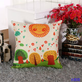 BZ058 Luxury Cushion Cover Pillow Case Home Textiles supplies Lumbar Pillow Birds and trees chair seat