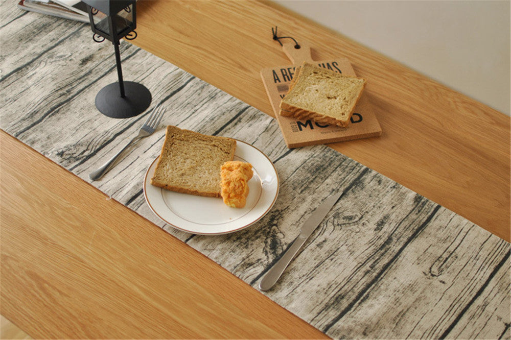 BZ380 Vintage wood table runner simulation bark pattern wallpaper background decoration decorative cloth placemat