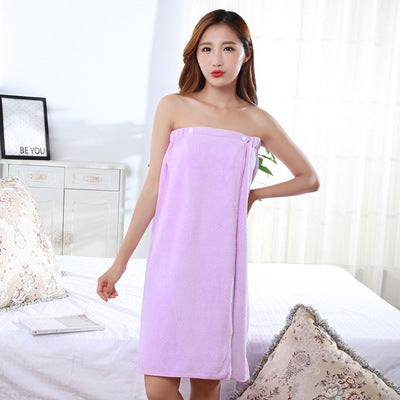 HELLOYOUNG Women Bath Towel Bath Robe Bathrobe Body Spa Bath Bow Wrap Towel Super Absorbent Bath Gown