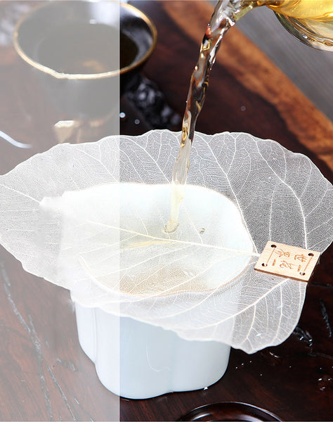 1pcs Pure Bodhi Leaf Tea Filter Creative Personality Bookmarks Adornment Metope Hollow Out The Leaves Personality Filter Q $