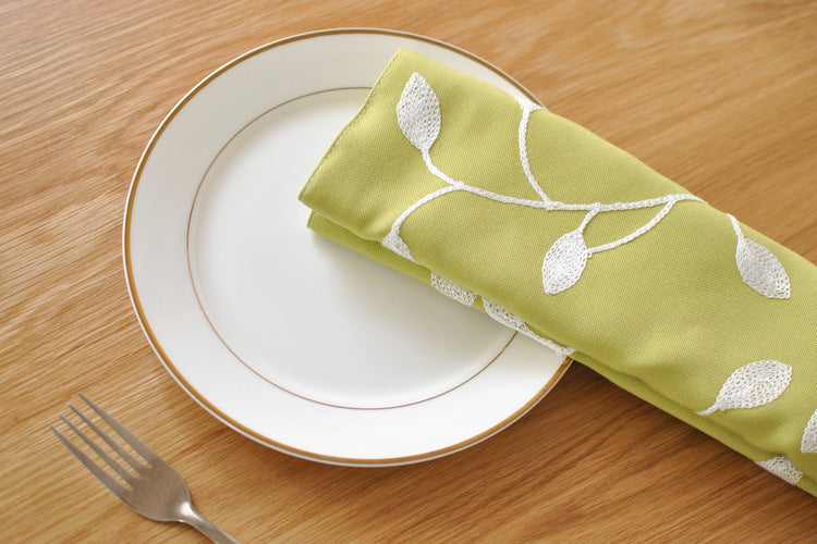 BZ803 Table mats Tableware mats Pads embroidery mat cloth Korean rural wind double disk pad placemat table napkin