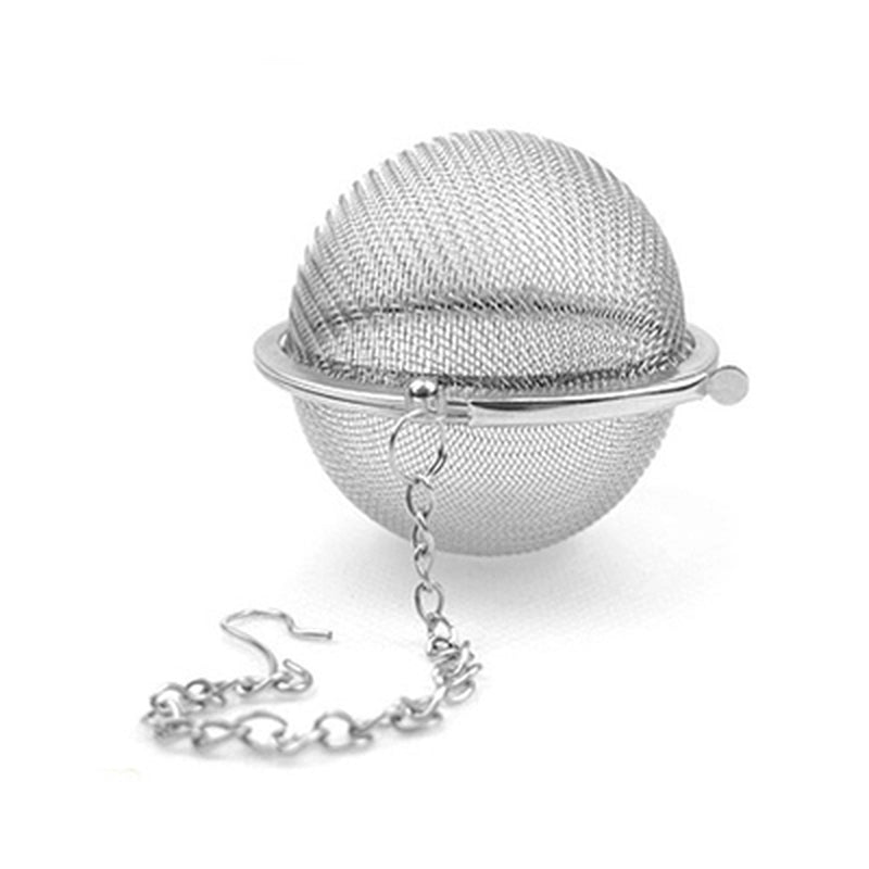 1pcs Stainless Steel Sphere Locking Spice Tea Ball Strainer Mesh Tea Infuser Filter Herbal Ball Tea tools