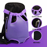 Small Pet Dog Carrier Backpack Sling Mesh Travel Dog Backpack Puppy Bags Shoulder Bag Chest Pack Out Portable Dog Carrier Pets