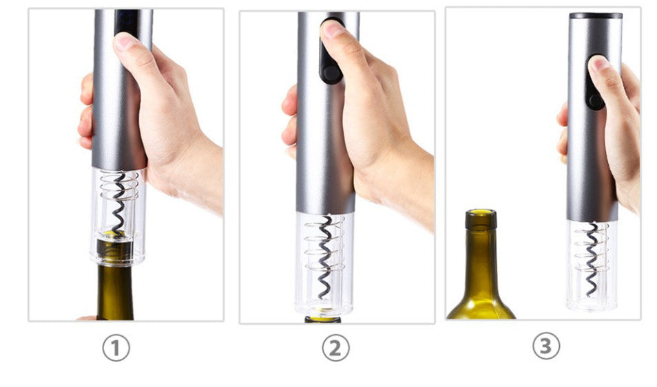 Electric wine opener Aluminum alloy red wine corkscrew automatic bottle opener with foil cutter wine accessories