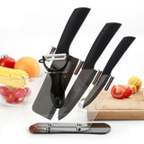 "Brand New 4"" 6"" 6.5'' inch+peeler+Acrylic Holder fruit Chef Kitchen Ceramic Knife Set kitchen cooking tools"