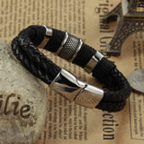 Handmade Genuine Leather Weaved Double Layer Man Bracelets Casual/Sporty Bicycle Motorcycle Delicate Cool Men Jewelry, PH891