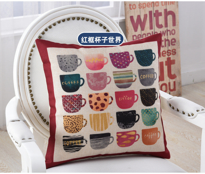 BZ258 Geometric abstraction pillow Cushion Cover Pillowcase Sofa/Car Cushion /Pillow  Home Textiles supplies
